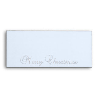 Silver Merry Christmas Envelope