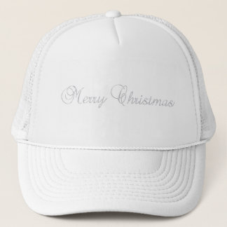 Silver Merry Christmas Hat