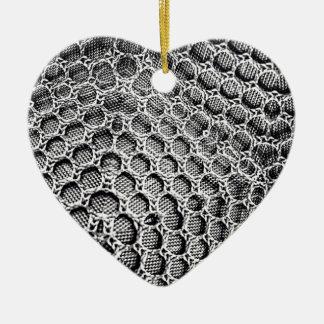 Silver Mesh Ceramic Ornament