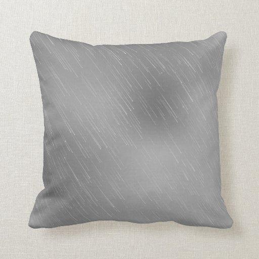 "Silver Metal Background Throw Pillow 20"" x 20"""