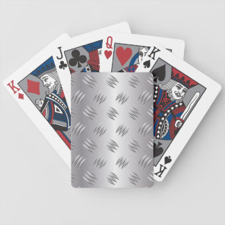 Silver metal bicycle playing cards