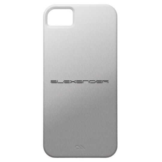 Silver Metal Customized iPhone5 covers