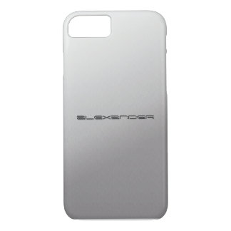 Silver Metal Customized iPhone 7 case covers