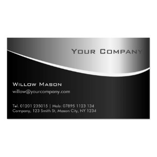 Silver Metal Effect Professional Business Card
