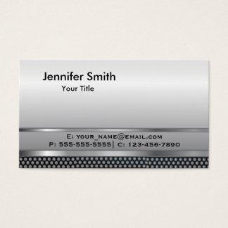 Silver Metal Elegant Template Business Card