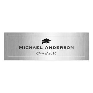 Silver Metal Embossed Senior Graduation Name Card