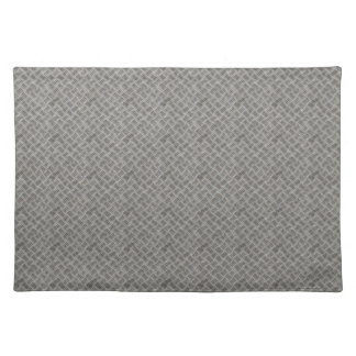 Silver Metal Grid Pattern Cloth Placemat