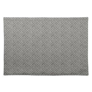 Silver Metal Grid Pattern Place Mat