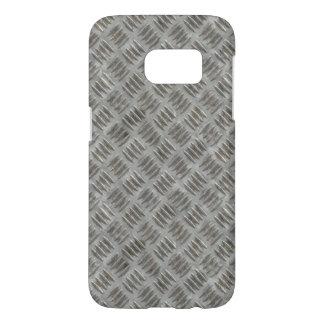 Silver Metal Industrial Nonskid Grid Pattern Samsung Galaxy S7 Case