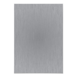 Silver Metal Look 3.5x5 Paper Invitation Card
