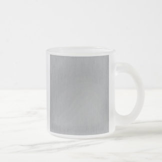Silver Metal Look Frosted Glass Coffee Mug