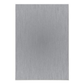 Silver Metal Look 3.5x5 Paper Invitation Card