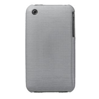 Silver Metal Look iPhone 3 Case