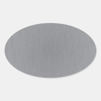 Silver Metal Look Oval Sticker