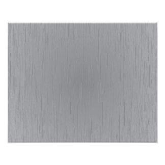 Silver Metal Look Photo Print
