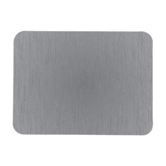 Silver Metal Look Rectangular Photo Magnet