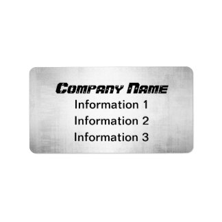 Silver Metal Look Return Address Shipping Labels