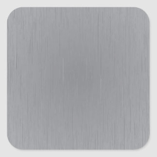 Silver Metal Look Square Sticker