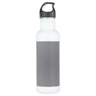 Silver Metal Look Stainless Steel Water Bottle