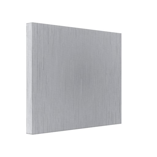 Silver Metal Look Stretched Canvas Print