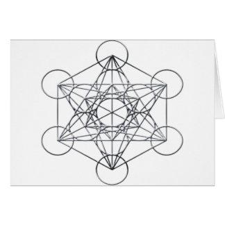 Silver Metal Metatron's Cube Card