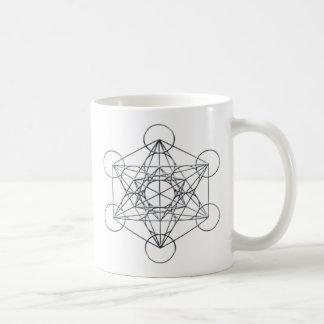 Silver Metal Metatron's Cube Coffee Mug