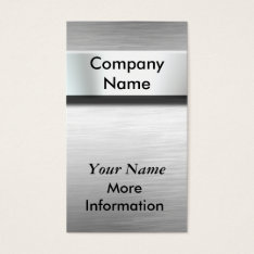 Silver Metal Nameplate Business Cards at Zazzle