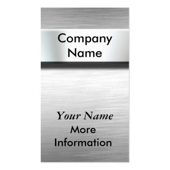 Silver Metal Nameplate Business Cards