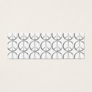 Silver Metal Peace Symbol Mini Business Card