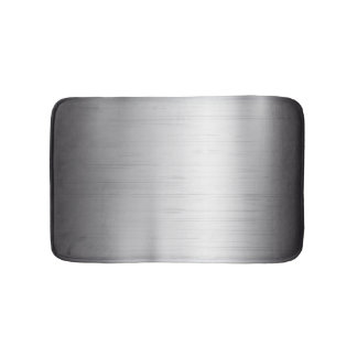Silver metal texture bath mat