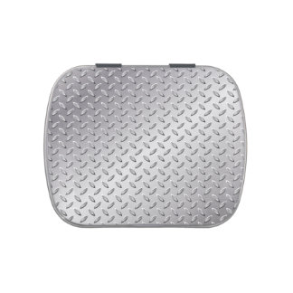 Silver metal texture candy tins