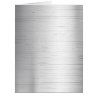 Silver metal texture card