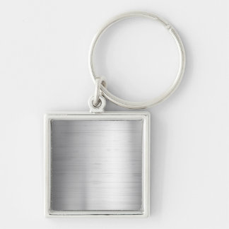 Silver metal texture keychain