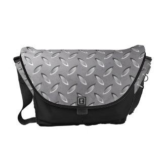 Silver metal texture messenger bag