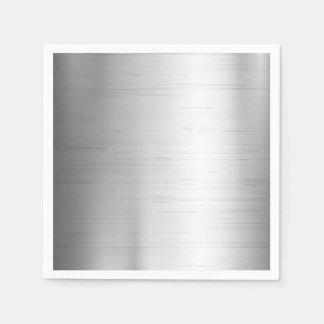 Silver metal texture paper napkin
