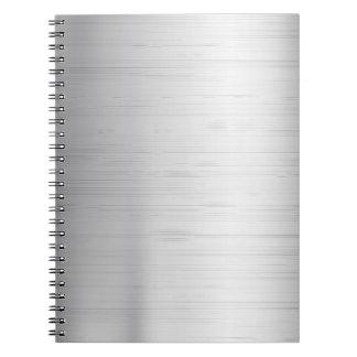Silver metal texture spiral notebook