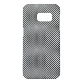 Silver Metal With Holes Pattern Samsung Galaxy S7 Case