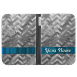 Silver metalic  looking chevron cases for the kindle