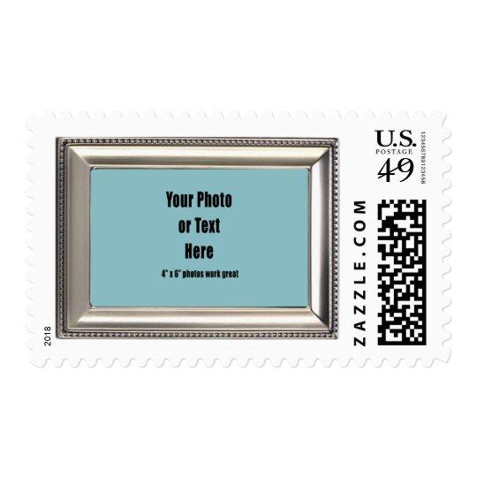 Silver Metallic Beaded Frame - Customizable Postage