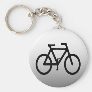 Silver Metallic Bicycle Keychain