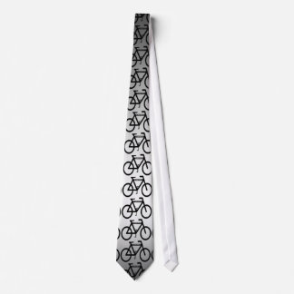 Silver Metallic Bicycle Neck Tie