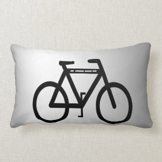 Silver Metallic Bicycle Pillow