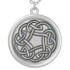 Silver Metallic Celtic Knot Necklace