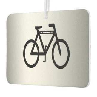 Silver Metallic Cycling Air Freshener