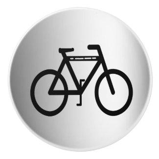Silver Metallic Cycling Ceramic Knob