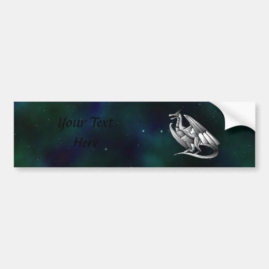 Silver Metallic Dragon Bumper Sticker