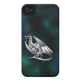 Silver Metallic Dragon iPhone 4 Case-Mate Cases