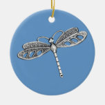 Silver Metallic Dragonfly Ornament