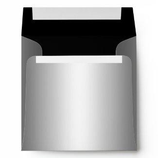 Silver metallic Envelope zazzle_envelope