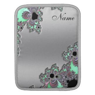 Silver Metallic Fractal Personalized iPad Sleeve